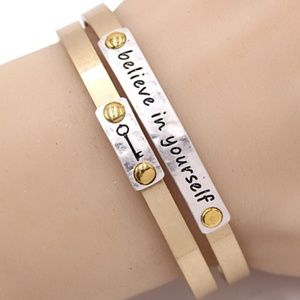 BELEIVE IN YOURSELF- Cuff Bracelet